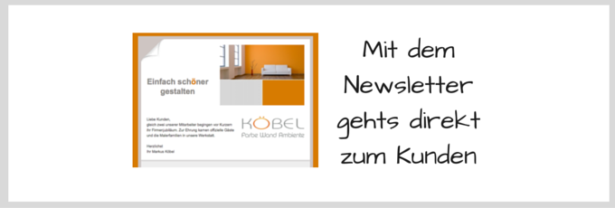 Newsletter Malerfachbetrieb Köbel